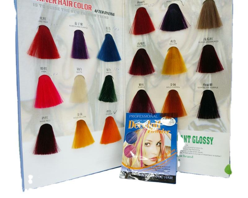 Ammonia Free Dust Free 15g many colors for choose decolor powder for hair coloring
