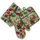 Digital Printed Potholder Oven mitt and Kitchen Towel 3pcs Kitchen Set