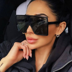 JHeyewear plastic big square frame oversized colorful custom fashion trendy women men sun glasses shades sunglasses 2021