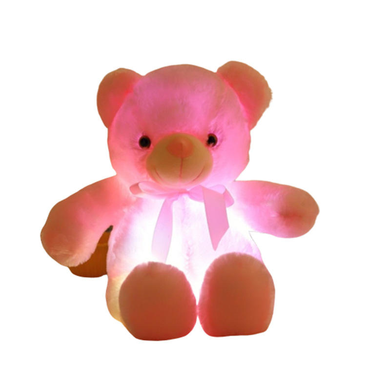 Glowing Teddy Bear Plush Toy Pillow
