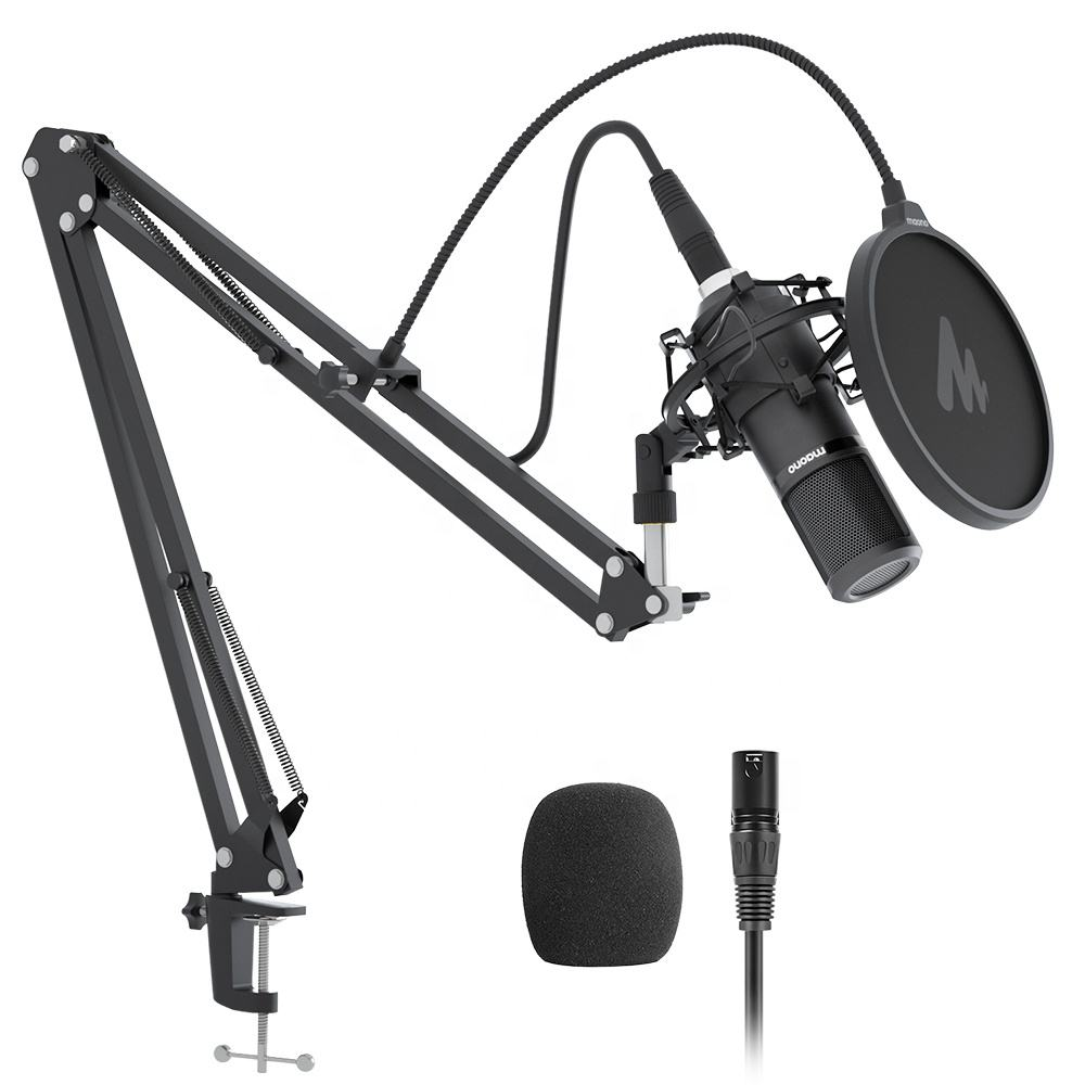 MAONO Professional Condenser Microfono With Microphone Stand for Recording bm800 Studio Microphone Recording with XLR Cable