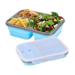 Leakproof Food Container Collapsible Silicone Foldable Lunch Box
