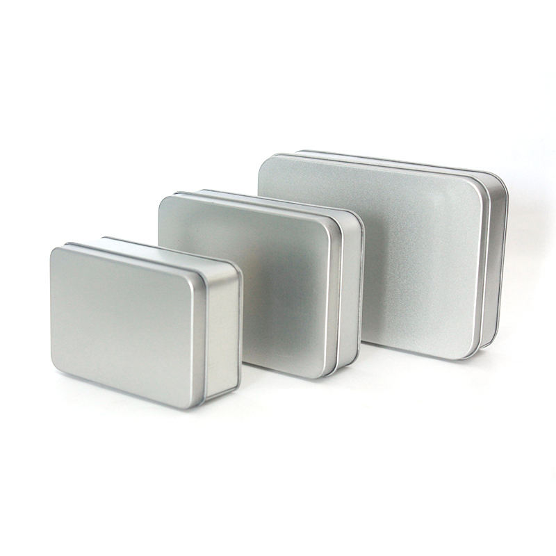 Stock In Warehouse Cheap Price Fast Delivery On Sale Blank Sliver Metal Cans Plain Tin Box