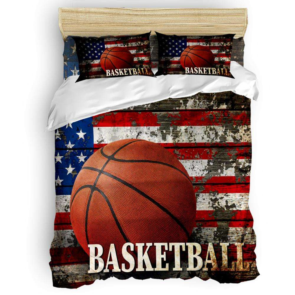 Home Bedding Sets Basketball Rugby Baseball Quilt Boys Teen Sports Quilt Cover basketball Kids Bedding Set For Commemorate KOBE