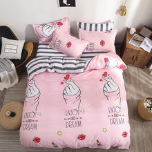 bedding newest flower design 100% polyester 4 pcs 3d included 2 pillow case , 1 bed sheet 1 duvet cover