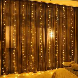 Hot selling outdoor decorative wedding LED twinkling stars string curtain light