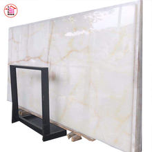 High Quality Natural White With Gold Lines Onyx Tiles And Slabs