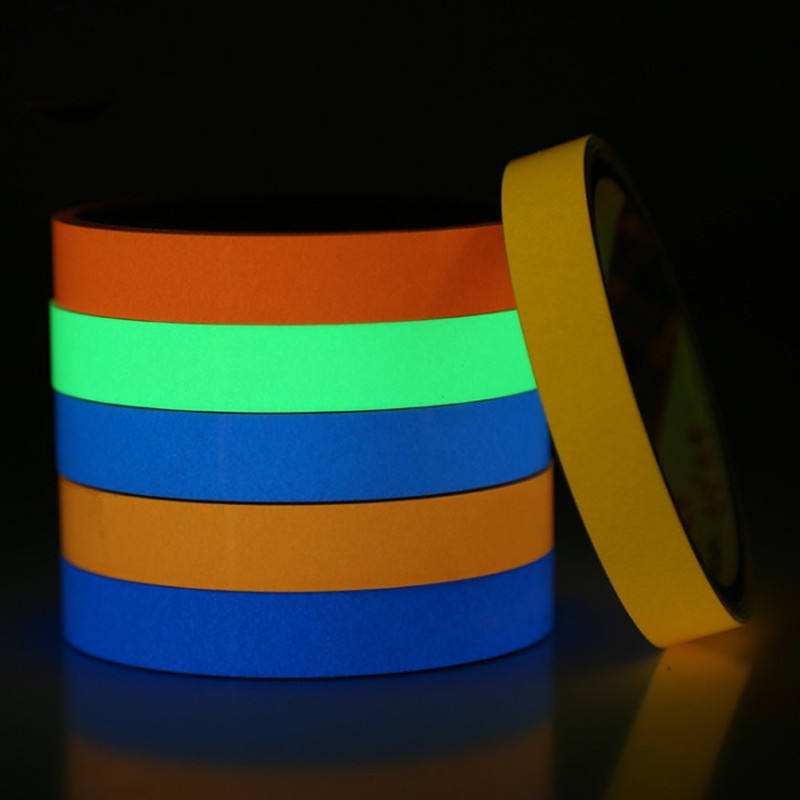 3m Luminous Fluorescent Night Self-adhesive Glow In The Dark Sticker Tape Safety Security Home Decoration Warning Tape