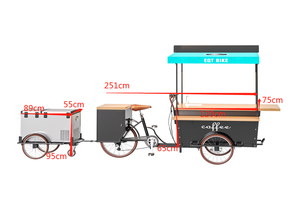 2020 Electric Mobile Coffee Bike Tricycle For Sale /Coffee Tricycle/Tricycle Coffee Bicycle