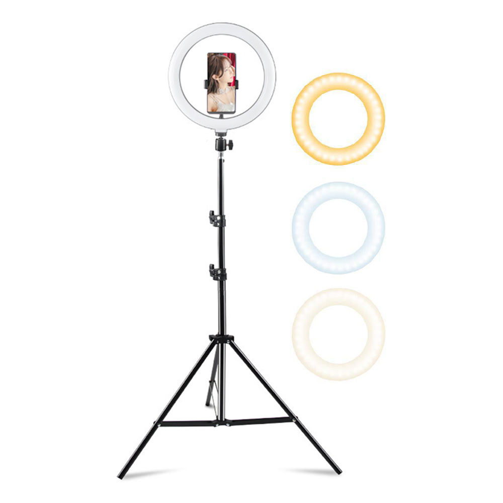 "LED Ring Light 10"" with tripod stand, Selfie Light for Tiktok YouTube Video"
