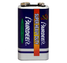 PAIRDEER private label 350mah 6f22 9v 9 volt high power plus remote control heavy duty battery