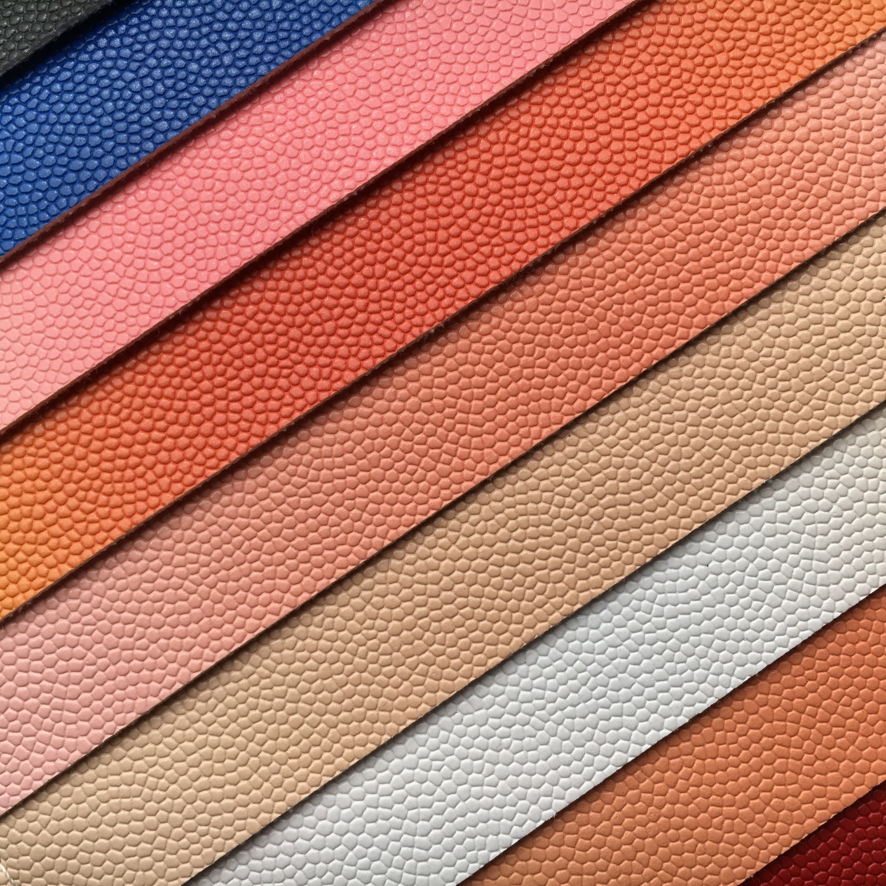 Rainbow leather color Custom Color PVC Basketball Leather Raw Material Basketball Fabric for bag leather