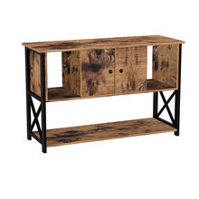 VASAGLE living room TV table vintage antique rustic industrial modern wood floor TV Stand with storage