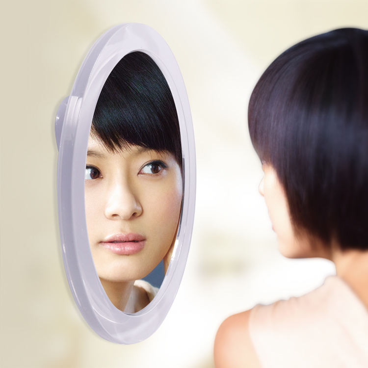 7X Magnifying Round Mirror with Suction Cup for Precise Eye Makeup