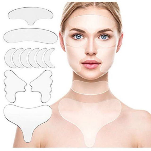 Healthy Self Adhesion Soft Medical Grade Silicone Anti Wrinkle Triangle/Heart Shaped/T-shaped Chest Pad