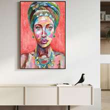 Newest design fashion lady oil painting modern art for home decor
