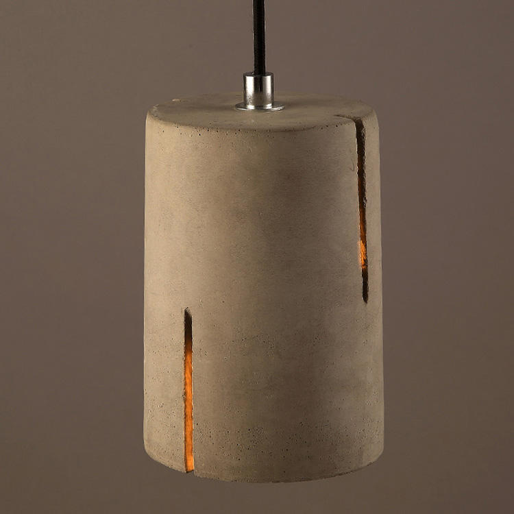 E27 led bulb antique cylinder modern art decoration concrete pendant light fixture for coffee shop