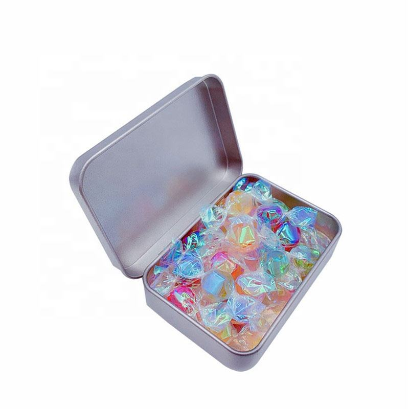 Custom Square Paper Crane Candy Tin 95*60*22