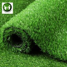Green colored sports flooring artificial grass carpets for football stadium