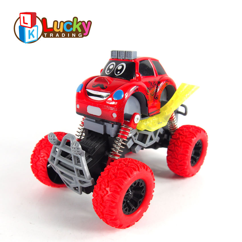 cartoon electric big foot 4wd friction powered vehicle toy with metal body