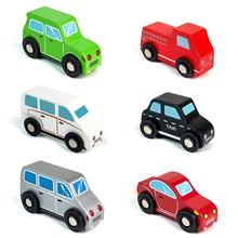 Pull Mini Vehicles Set Travel Kid Toy Gift Wooden Car Toys Juguetes de Coche de Madera for Kids Baby Toddlers