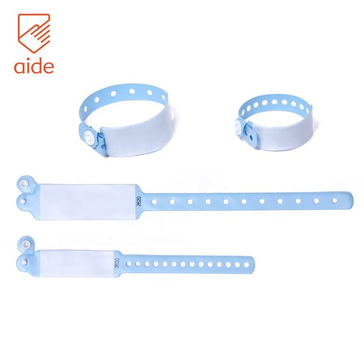 Vinyl [ Vinyl Wristbands ] Pvc Wristband Disposable Writable Plastic Hospital PVC Vinyl Medical Wristbands For Mother And New Born Baby