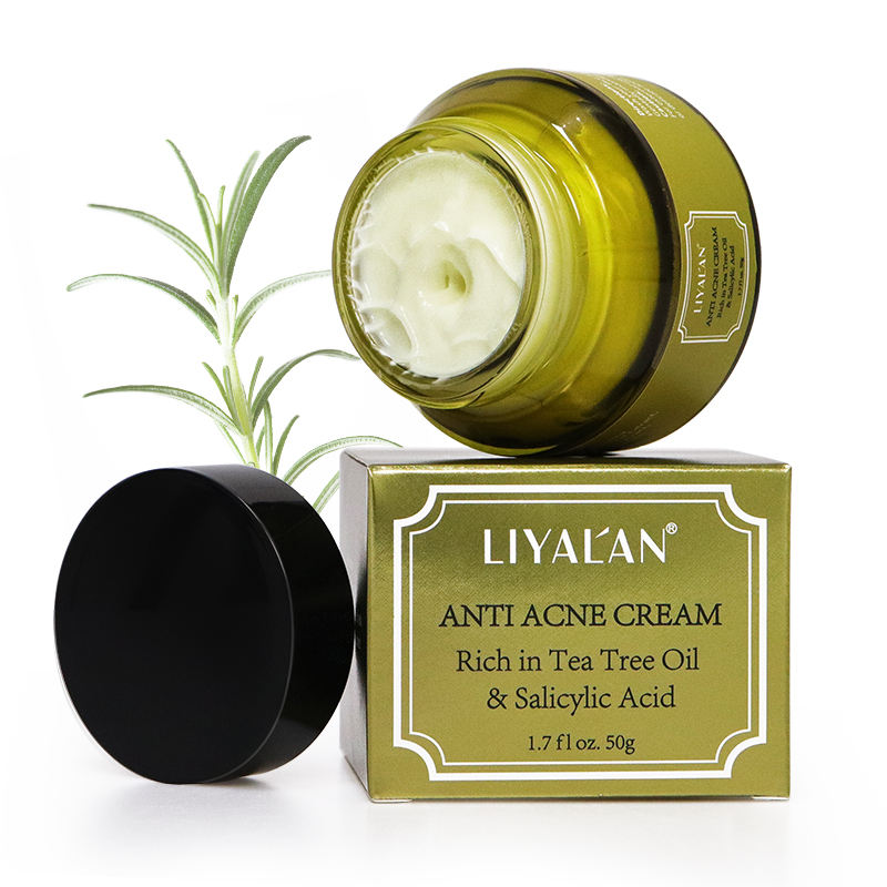 Private Label Best Organic Herbal Tea Tree Repair Scar Anti Acne Remover Pimple Treatment Face Cream