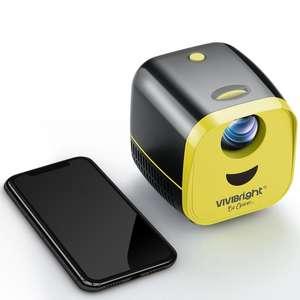 Newest! VIVIBRIGHT L1 mini pico led projector HD 1080p portable home theater pocket projector