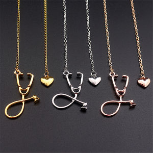 XUNBEI Medical Equipment Nurse Heart Stethoscope Necklace Nursing Jewelry