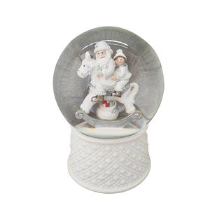 Hot sale wholesale resin custom made christmas water polyresin snow globe