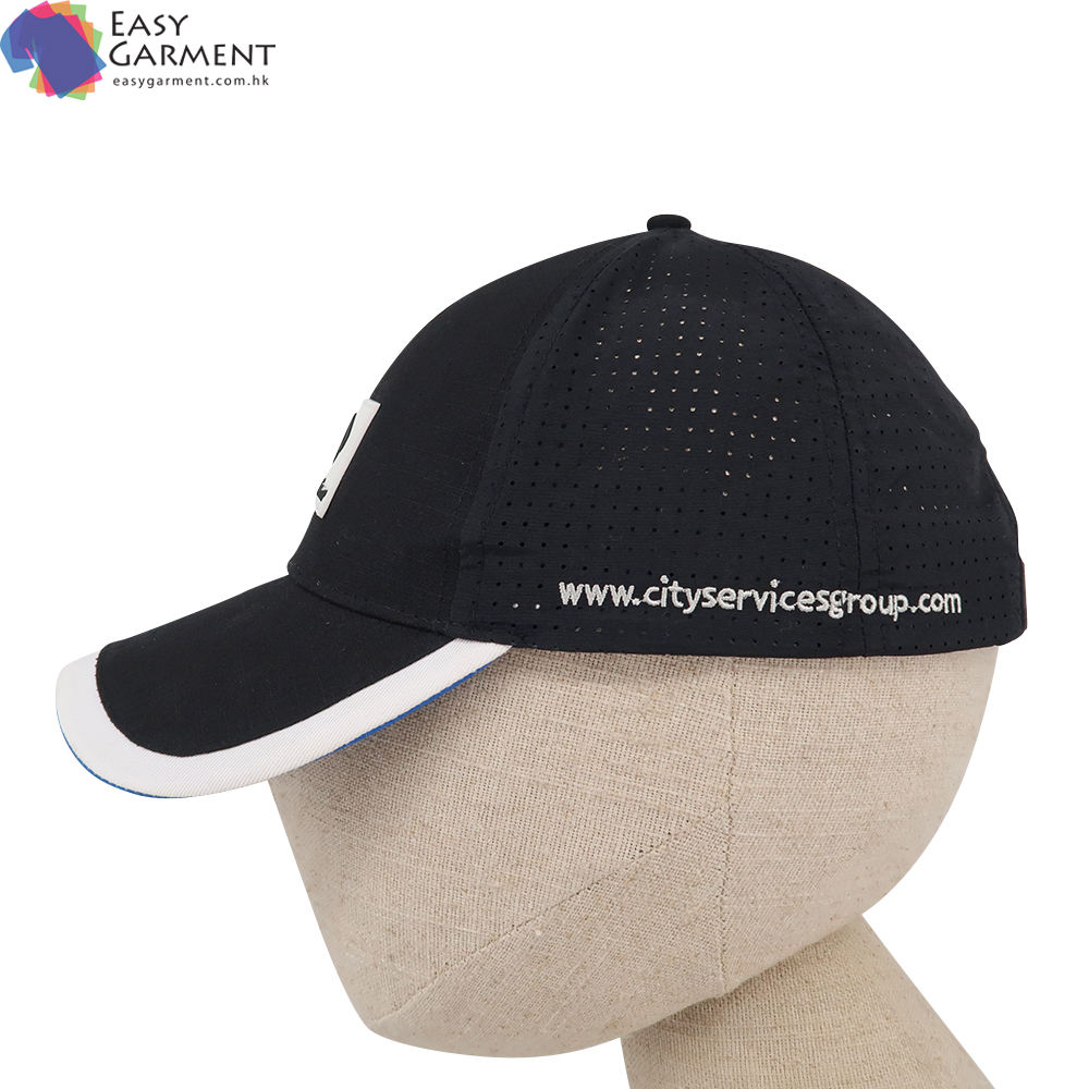 Different colors popular 3D Embroidered suede Black dry fit Company baseball cap hat for Printing
