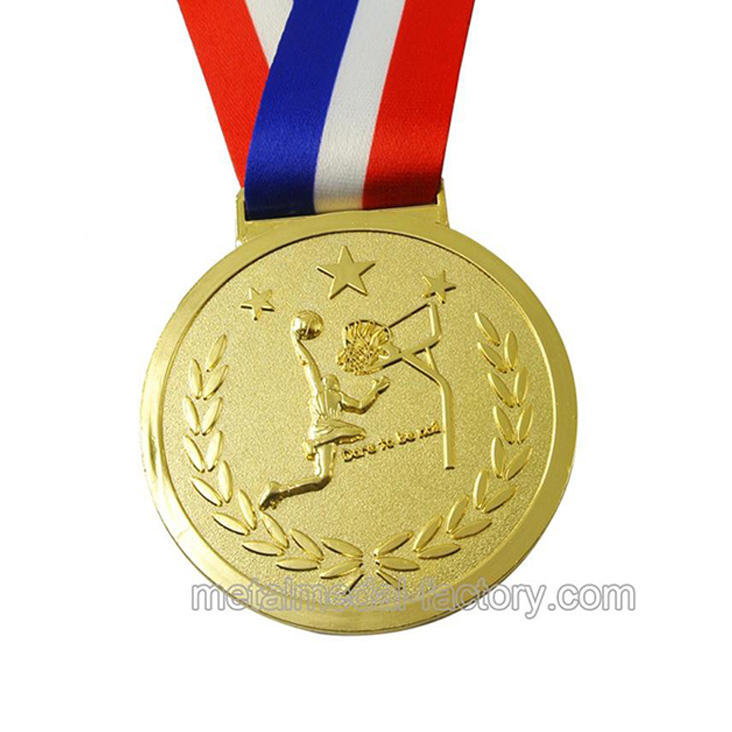Custom 3D golden plating colors championship metal minion gold basketball medal