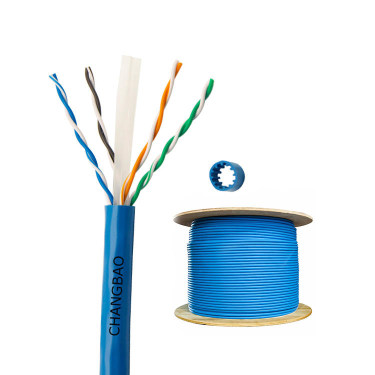 Changbao 23AWG 4 Twisted Pair UTP FTP 1000ft 305m Reel Network Lan Cat6 Cat 6a Ethernet Cable Internet