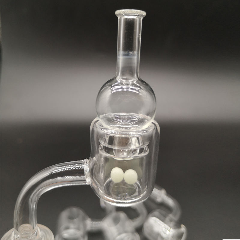 Quartz Smoking banger with carb cap male