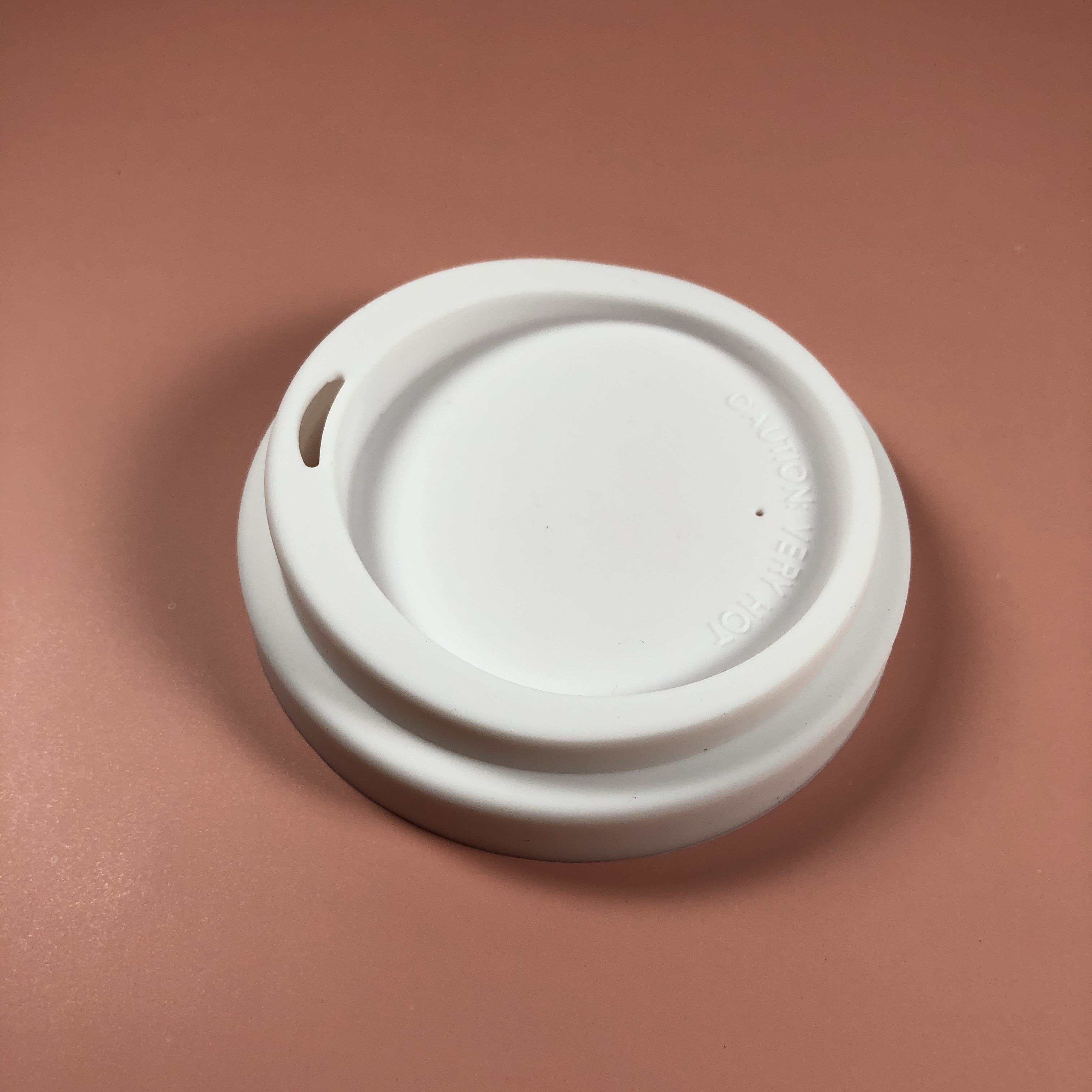 Hottest Silicone Cup Cover In Australia White 9cm OEM Moon Shape Silicone Cup Lid Cover
