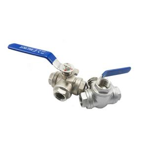 China wholesale 2 inch ball valve stainless steel 304 316 three way ball valve sanitary 3-way ball water valvesstainless steel