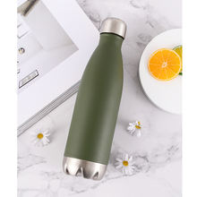 500mlHigh quality hot-selling stainless steel vacuum Cola Shape Flask Cool straw bottle