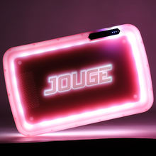 Factory Wholesale Custom Logo Rolling Tray Led Glow Tray Rechargeable Battery Powered Plastic Smoking Serving Tray