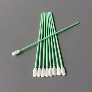 TX761 Long PP Handle Cleanroom Polyurethane Swabs Stick for Cleaning Keyboard