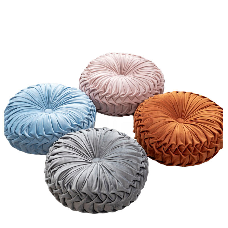 Wholesale Super Soft Velvet Decorative Seat Cushion Throw Pillow Cushion Round Meditation Cushion For Sofa Home Decor