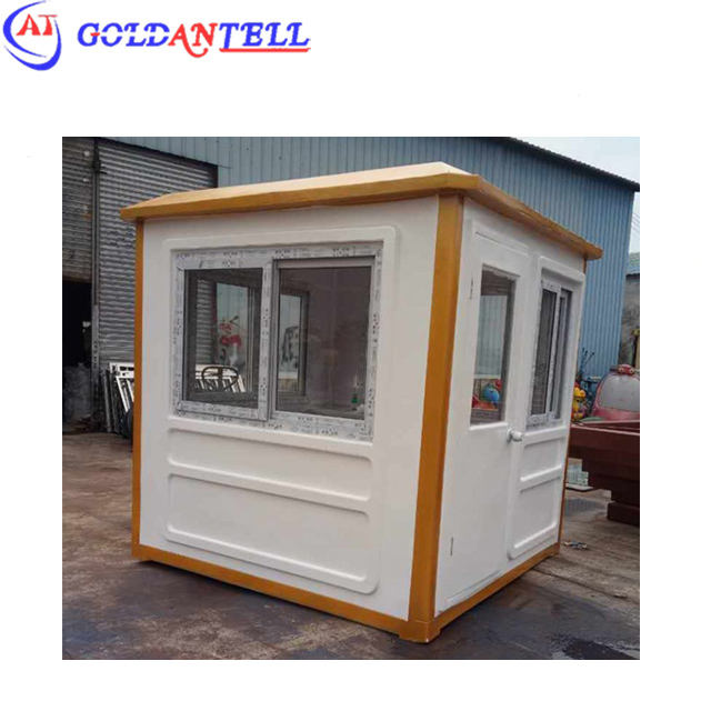Two person space portable guard booth , security guard house and fiberglass guard room