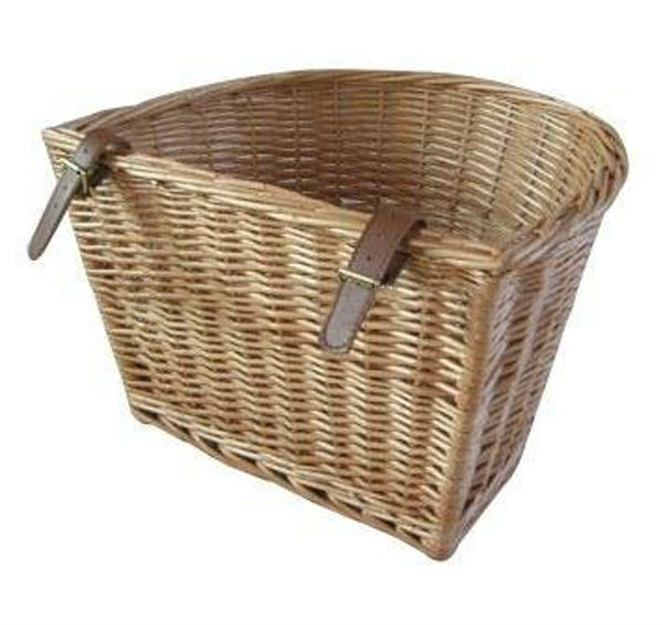 Natural handmade willow wicker half round Side bicycle basket