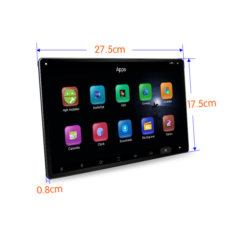 "Factory 12"" 11.6 inch portable android tablet for car headrest screen back seat entertainment with built in battery tablet pc"