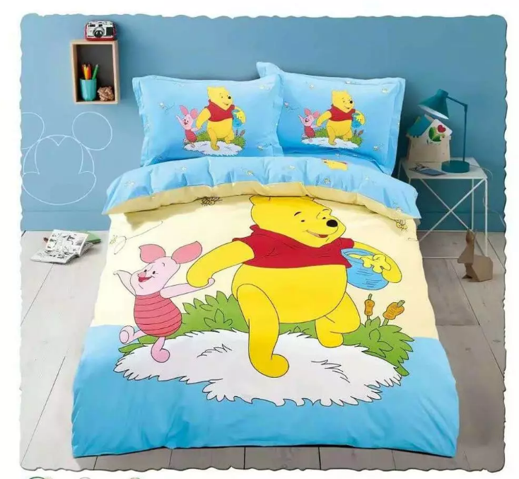 OEKO-TEX factory supply 100% cotton bear printing Baby kids Bedding duvet cover set