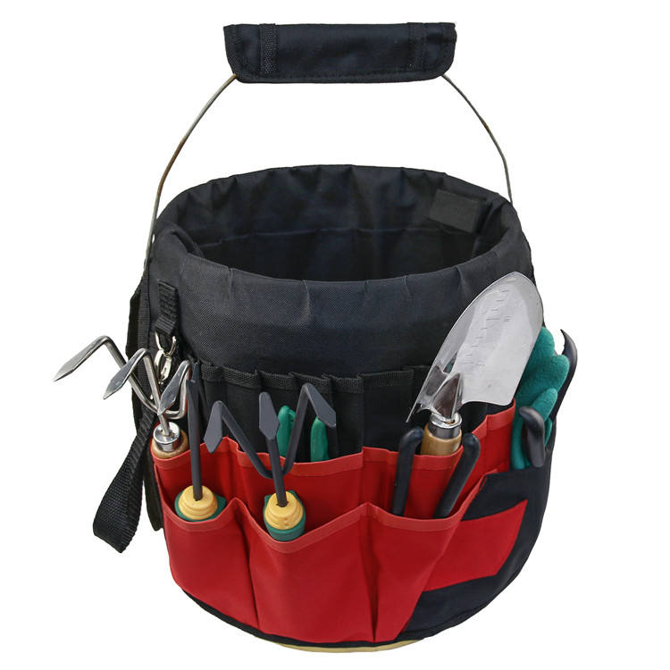 Portable Easy Carrying Heavy Duty Garden Bucket Tool Organizer Bag with 42 Pockets