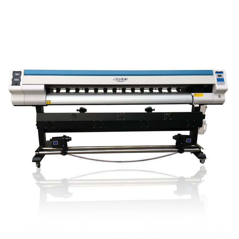 Audley 1.3m 1.6m 1.8m digital eco solvent printer inkjet printers with Xp600 head