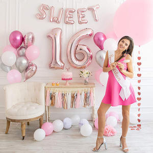 Nicro Girl Pink Birthday Decorations Sweet 16 Party Supplies