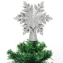New EU US UK Plug Snowflake Shaped Christmas Tree Decor LED Lamp Top Light Projection Christmas Tree Star Topper