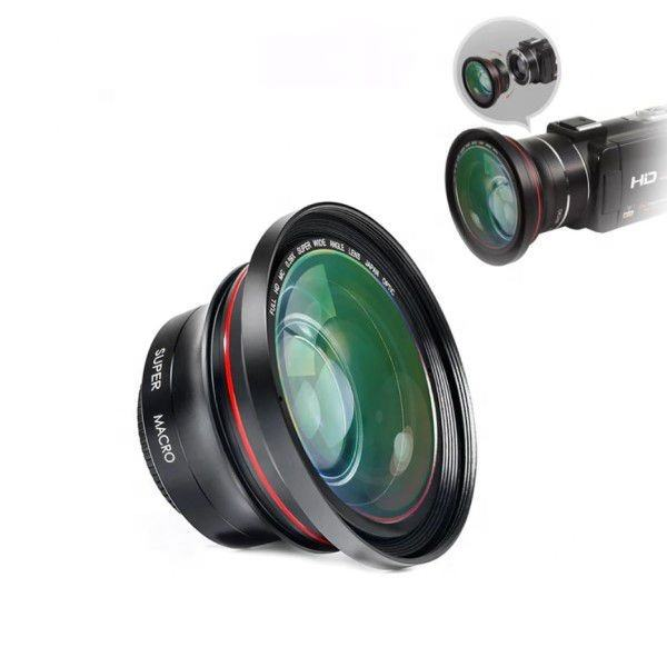0.39X Super Wide Angle Lens Camera Lens for Video Camera Camcorder dia.72mm Lens