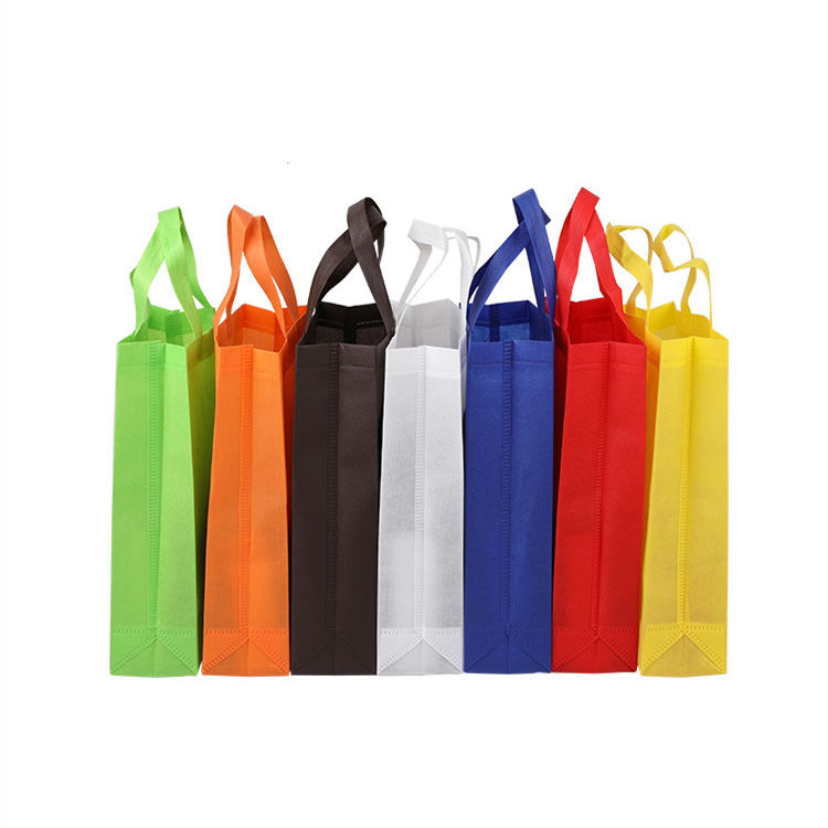 Custom printing non woven bags recycled shopping tote bag non woven fabric shopping bag